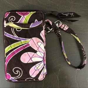 Vera Bradley Wristlet - Purple Punch - EUC